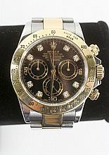 Men's 18k Gold & Diamond Daytona Watch