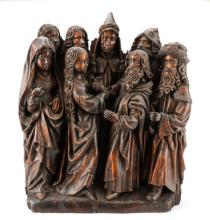Netherlandish 16th C. Carving, Betrothal of Mary