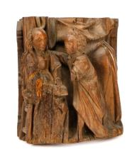 16th C. Flemish Oak, Annunciation of the Virgin