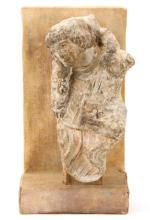 Rare Carved Limestone St. John, 12th Century