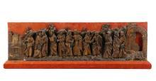 16th C. German Polychrome & Gilt Narrative Relief