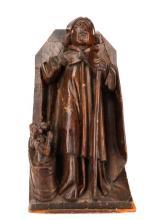 16th C. Flemish Carved Oak Corbel, Bishop