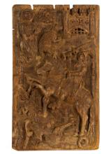 16th C. English Carved Oak Relief, St. George