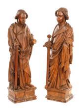 15th C. St. Crispin & Crispinian, Carved Oak