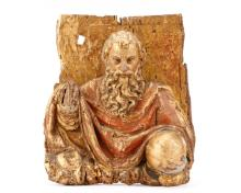 17th C. German Giltwood Relief, God the Father