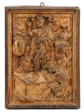 16th C. Gilt and Polychrome Carving - Resurrection