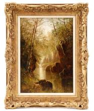 Thomas Henry Gibb Signed 1861 Landscape Oil