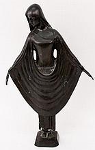 Art Deco Bronze Figural Sculpture of a Young Woman