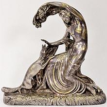 Gustave Gillot, Art Deco Figural Bronze Sculpture
