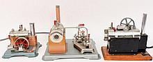 Three Jensen Manufacturing Steam Engines