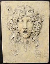 Bacchanalian Facial Wall Plaque