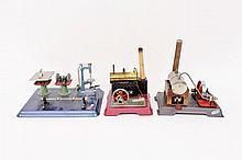 Two Wilesco & One Fleischmann Steam Engines