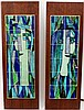 Pair of Harris Strong Modern Pottery Tile Artworks