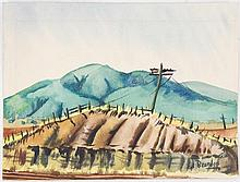 Edward Carpenter Bearden, Elk Mtns. Watercolor