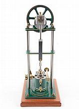 Hand Built Model Over Type Vertical Steam Engine