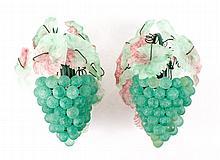 Pair of Italian Murano Glass Grape Vine Sconces