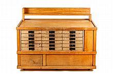 Vintage Custom-Made Artist's Storage Cabinet