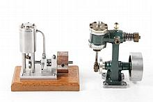 Two Small Live Steam Engine Models
