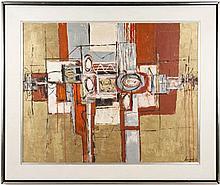 Keenan Shute, Modern Abstract Oil, Signed