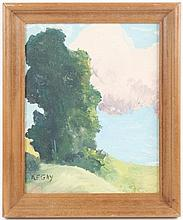 Gus Gay Signed Oil, Fauvist Landscape