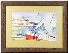 Charles Levier, Watercolor,