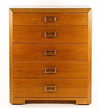 Mid Century Modern Tall Chest w/5 Drawers
