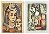 2 Georges Rouault Aquatints, Two Clowns & Old King, Georges Rouault, $150