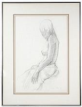 Marc Chatov 1977 Graphite Figure Study, Framed