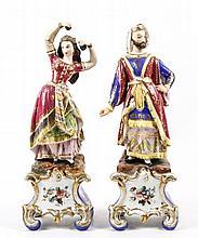 19th C. Continental Figural Censers, Persian Motif