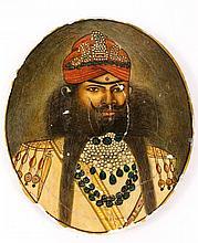 Unframed Miniature Portrait of a Indian Man
