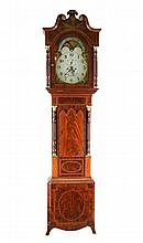 George III Mahogany 8 Day Longcase Clock