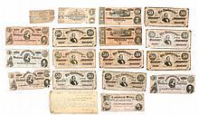 19 Pieces of Confederate Paper Money