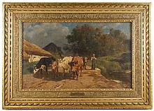 19th C. French Oil,