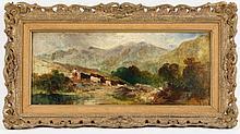 British School, 19th C. Landscape with Figures