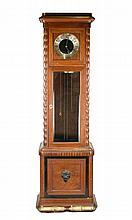 German Oak Tall Case Clock, Mathias Bauerle