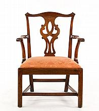 George III Walnut Armchair, 18th Century
