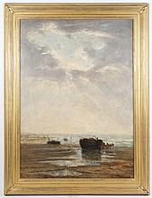 Theodore Tscharner Signed 19th C. Oil, Beach