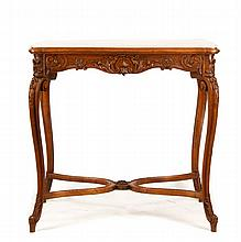 19th C. French Walnut Occasional Table