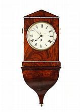 English Regency Mahogany Bracket Shelf Clock