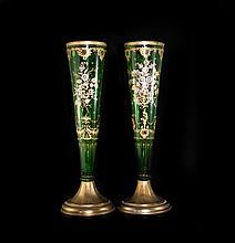 Antique Bohemian Crystal Vases