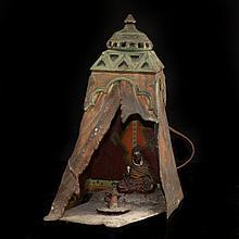 Antique Bronze & Spelter Lamp