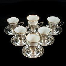Lenox Sterling & Crystal Tea Cups
