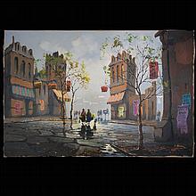 Lo Giudice (Italy, 1957-2014) Oil On Canvas