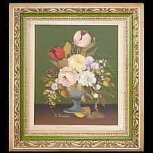 R. Rosini Still Life Floral Painting