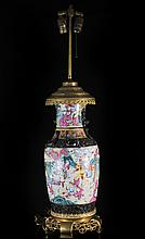 Chinese Hand Painted Procelain Lamp