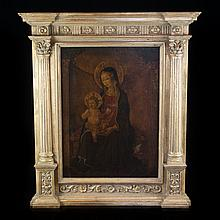 Madonna and Child - Oil on Wood Panel