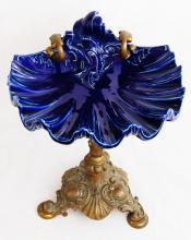 KPM Porcelain & Dore Bronze Compote