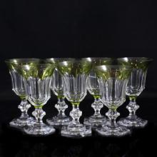 Val St. Lambert Crystal Goblets
