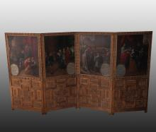 Attributed to Romero Mexican Panels