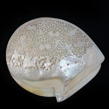 Hand Carved Mother Of Pearl Plates